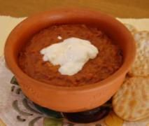 Mexican Bean Dip - add LOTS of cumin, lots of chipotle Tabasco and sour cream