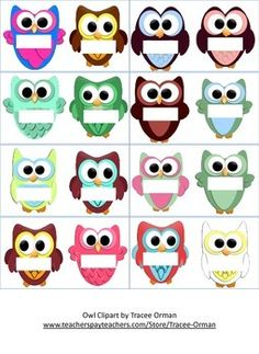Owl Magnet Template by Becky Blair