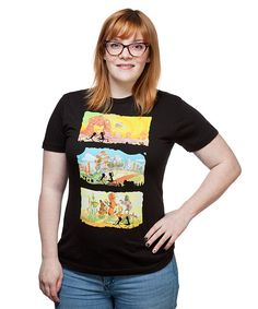 Rick and Morty Running Through Dimensions Ladies Tee