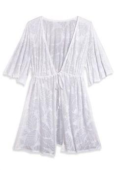 Amazon.com: Avenue Plus Size Burnout Cover Up: Clothing