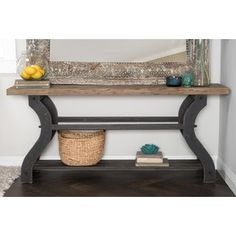 Shop for Satur Natural and Black Reclaimed Wood Console Table by Kosas Home. Get free shipping at Overstock.com - Your Online Furniture Outlet Store! Get 5% in rewards with Club O! - 16010077