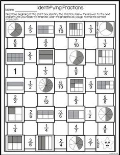 Equivalent Fractions Chart Worksheet (Differentiated
