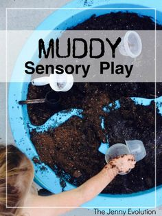 What is it about mud sensory play and getting up to your elbows in messy fun? Turn these sensory play ideas into the ultimate toddlers playdate with these tips. Sensory Tubs, Sensory Activities Toddlers, Sensory Bottles, Games For Toddlers, Infant Activities, Sensory Play, Summer Activities, Outdoor Activities, Sensory Diet