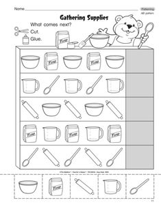Worksheet for Kindergarten Patterns - Pattern worksheets for preschool and kindergarten. These free worksheets will help your kids learn to recognize and complete patterns, and will also give . Pattern Worksheets For Kindergarten, Patterning Kindergarten, Preschool Worksheets, Tracing Worksheets, Kindergarten Math, Preschool Activities, Free Worksheets, Preschool Curriculum, Free Preschool