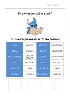 BLOG EDUKACYJNY DLA DZIECI Polish Language, Olaf, Study, Education, Books, Diy, Speech Language Therapy, Cuba, Studio