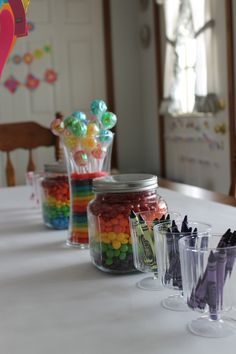 rainbow party: coloring station