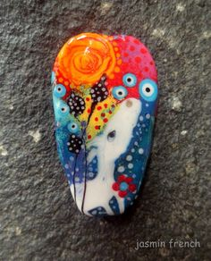 jasmin french ' the dreaming ' lampwork focal by jasminfrench