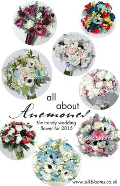 All About Anemones: THE Trendy Wedding Flower For 2015!  #2015 #wedding #flowers #silk #artificial