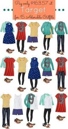 Spring Capsule ideas on a BUDGET! Target Women's Fashion VERTICAL