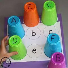 Letter Activities, Preschool Learning Activities, Toddler Activities, Preschool Activities, Teaching Resources, Alphabet Games For Preschoolers, Free Alphabet Printables, Alphabet Crafts, Alphabet Letters