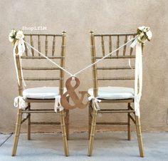 Ampersand+Chair+Ampersand+Sign+Wedding+Sign+And+by+LuckyYouLuckyMe,+$37.00