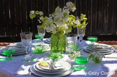 My Cozy Corner: St Patrick's Day Tablescapes