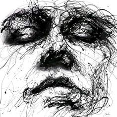 Striking Portraits Created From Dripped Paint by Agnes Cecile