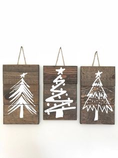 Rustic Christmas Tree Signs Christmas Tree Sign Set Christmas Tree Signs Farmhouse Christmas Decor Rustic Signs with Twine Sign Set Rustic Wood Signs Christmas Decor Farmhouse Rustic Set Sign Signs tree Twine Christmas Tree Painting, Christmas Projects, Christmas Tree Decorations, Christmas Tree Ornaments, Christmas Holidays, Christmas Wreaths, Christmas Movies, Classy Christmas, Christmas Vacation
