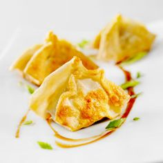 Pork Dumplings, a recipe from the ATCO Blue Flame Kitchen's Holiday Collection 2015 cookbook. Appetizer Recipes, Snack Recipes, Appetizers, Cooking Recipes, Snacks, Easy Recipes, Easy Meals, Thing 1, Wonton Wrappers
