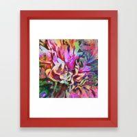 Tropical Painted Peony Framed Art Print