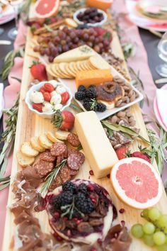 Charcuterie board from One Stylish Party Rose All Day Dinner Party | Black Twine