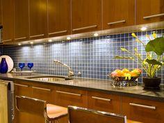 Blue Tile Backsplash