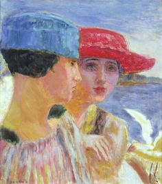 artishardgr: Pierre Bonnard - Young Women and a Seagull 1918