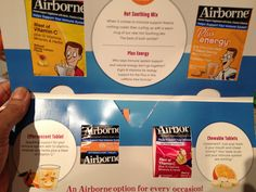 Airborne samples, free! Thanks I was wondering about the tea and energy version ones. Now I can check it by myself! Didn't believe i would get it. Can you send coupons?? He he