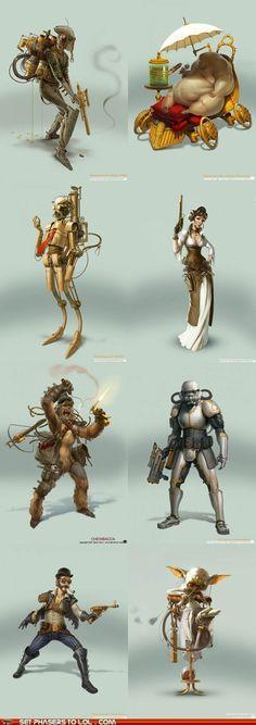 art,best of the week,boba fett,c3p0,chewbacca,Han Solo,jabba the hutt,Princess Leia,Reimagination,star wars,Steampunk,stormtrooper,yoda