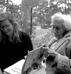 Eudora Welty, seen here with Annie Leibovitz — Photographed by Maude Schuyler Clay