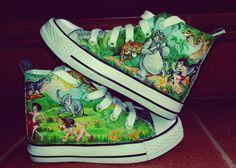 #dipinteamano #scarpe #personalizzata #librodellagiungla #bimbo #bimba #conversedipinta