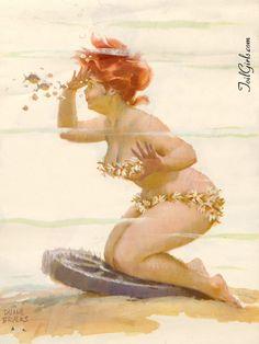 """""""Underwater""""  ~~  *Hilda*   Artist ~Duane Bryers~"""