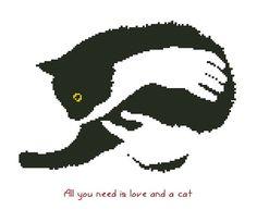 Cats/animal Counted Cross Stitch Pattern