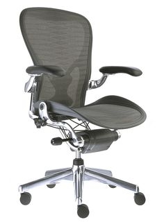 Charles' pick - Herman Miller Aeron Chair. Has a permanent position in the Museum of Modern Art, versatile, green and cool, they're awesome!