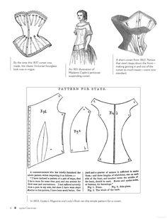 1850s fashion 1850s corset 1853 corset. Godey's Lady's Book. Bound & Determined: A Visual History of Corsets, 1850--1960 - Kristina Seleshanko - Google Books