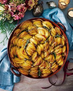 Crispy pan potatoes No one can resist a pan filled with crispy, golden potatoes. Serve this easy, impressive side dish as an alternative to classic roast potatoes for your dinner party or Christmas lunch.