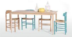 Valder, table rectangulaire en chêne