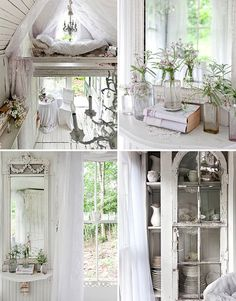 Victorian cottage style boards. Even like the monochromatic look....cozy!