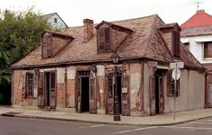 Jean Lafitte's Blacksmith Shop - New Orleans; The oldest bar in North America--Lafitte's Blacksmith Shop