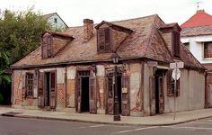 Jean Lafitte's Blacksmith Shop - New Orleans; The oldest bar in North America--Lafitte's Blacksmith Shop