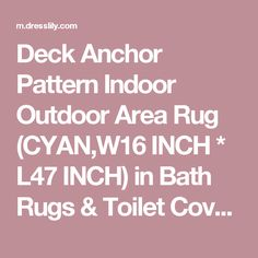 Deck Anchor Pattern Indoor Outdoor Area Rug (CYAN,W16 INCH * L47 INCH) in Bath Rugs & Toilet Covers | DressLily.com