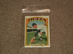 1972 Topps Dalton Jones Tigers Baseball Card #83 (Sports, Collectibles, EXMINT)  #DetroitTigers