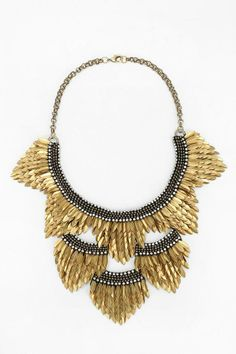 Deepa Gurnani Petal Bib Necklace