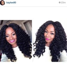 I think this is crochet, im not sure but those curls are GORGEOUS!!!
