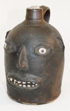 Rare Southern Stoneware Face Jug