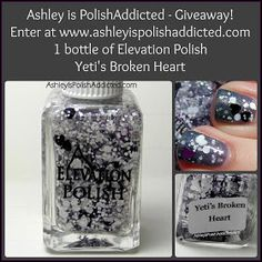 Ashley is PolishAddicted: Elevation Polish Yeti's Broken Heart (LE) GIVEAWAY!