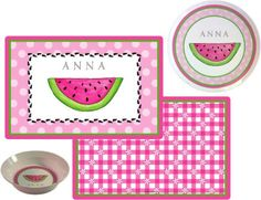 One of our favorite #gifts for little eaters - #personalized plate sets!