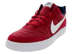 Nike Mens NSW Tiempo Trainer Lgcy RdWhiteMid NvyGm Md Br Training Shoe 9 Men US