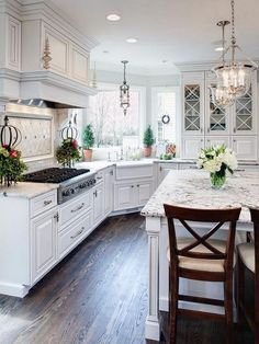 Charming Ideas For Luxury White Kitchen Design Decor Ideas. Here are the Ideas For Luxury White Kitchen Design Decor Ideas. This article about Ideas For Luxury White Kitchen Design  Modern Kitchen Cabinets, Kitchen Cabinet Design, Interior Design Kitchen, Kitchen Countertops, Granite Kitchen, Kitchen Backsplash, Home Design, Farmhouse Cabinets, White Countertops