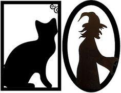 Printable Halloween silhouettes
