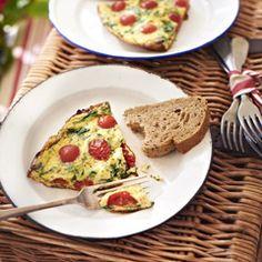 Spinazie-omelet met Sweet Pearl tomaatjes