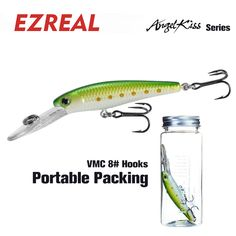 Ezreal AK60 65mm 1PC 6g Crankbait  Fishing Lures Wobbler floating minnow popper crank  Artificial Hard Bait VMC Hooks swimbait