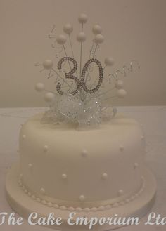 Cake topper pearl burst diamante birthday anniversary numbers with ribbon & bow - 30th Wedding Anniversary Cake, Anniversary Cake Designs, Golden Anniversary Cake, 30th Anniversary Parties, Pearl Anniversary, Anniversary Ideas, Diamond Wedding Cakes, Wedding Cake Pearls, 60th Birthday Cakes