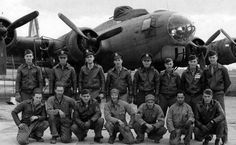 """B-17 Kimbolton. """"Penny Ante"""" Crew, 379th BG, England, June 1943 Great book """"Return to Base."""" Pilot Hershell Streit and Co Pilot Jesse Pitts.."""